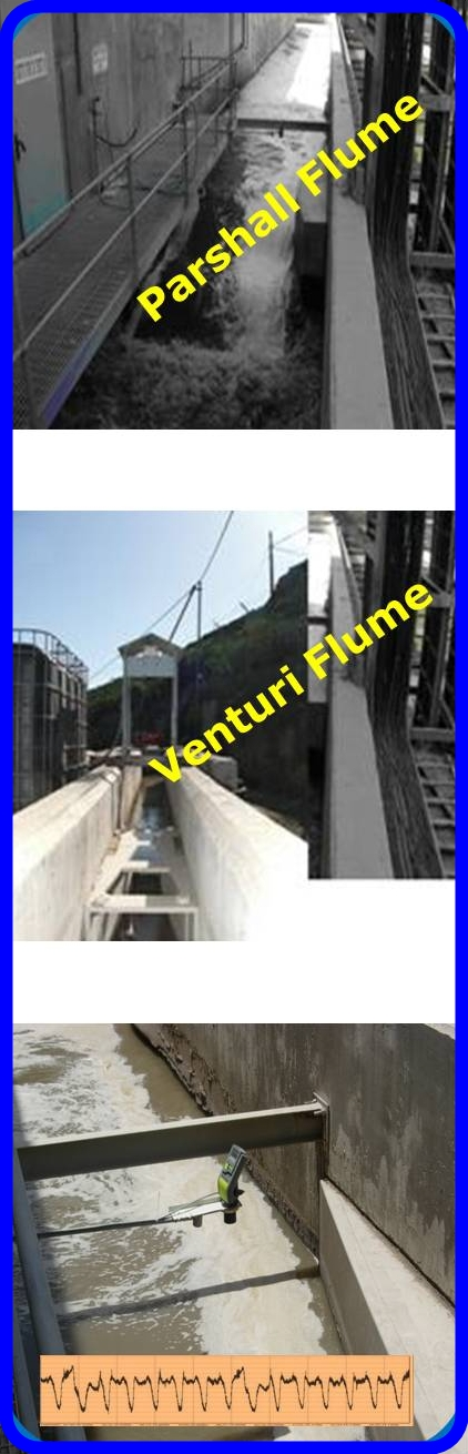 Flumes and weirs for open channel flow measurement